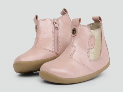 Bobux Step Up Jodphur Boot (blush shimmer)