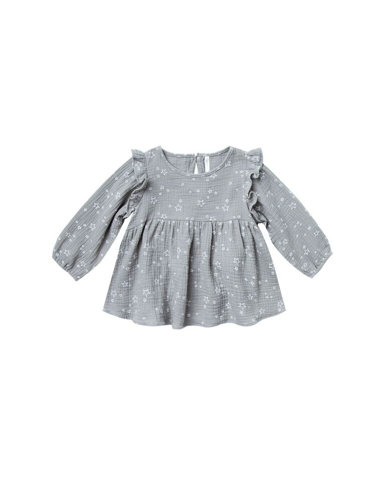 Rylee and Cru  Piper Blouse Twinkle (washed denim)