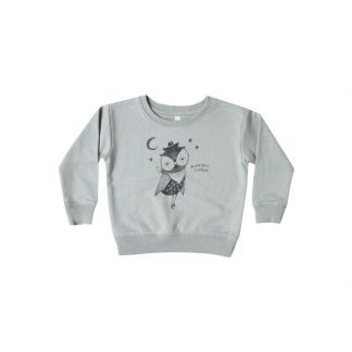 Rylee and Cru Cowboy owl Sweatshirt (washed denim)