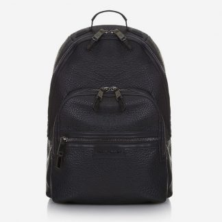 Tiba and Marl Elwood Backpack (faux leather) (black/gunmetal)