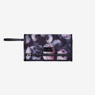 Tiba and Marl Etta Clutch (goth floral)