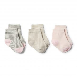 Wilson and Frenchy Socks 3 Pk (oyster, grey, eggshell)