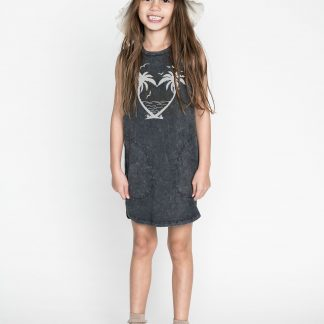 Missie Munster Palm Heart Dress (washed black)