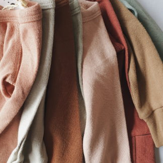 Susukoshi Organic Kimono L/S Bodysuit (terracotta)