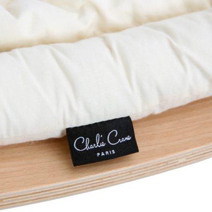 Charlie Crane Levo Rocker Beech w/organic white cushion **Pre-Order Item