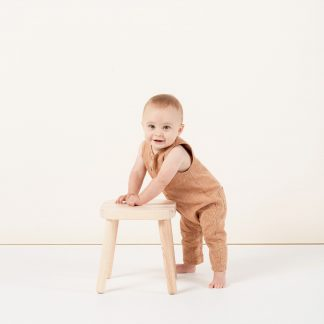 Rylee and Cru Button Jumpsuit (bronze)