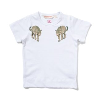 Lil Missie Munster Pounce Tee (white)