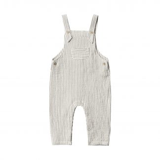 Rylee and Cru Baby Overall Stripe (olive)