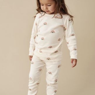 Wilson and Frenchy Organic L/S Pyjama Set (sing a rainbow)