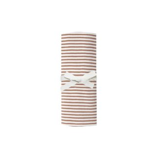 Quincy Mae Baby Swaddle (rust stripe)