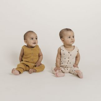 Quincy Mae Rosie L/S Woven Romper (natural)