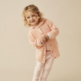Wilson and Frenchy Rib Knitted Jacket (tropical peach)
