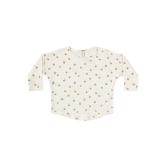 Quincy Mae L/S Baby Tee (ivory/peach)