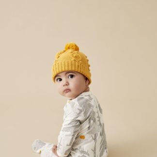 Wilson and Frenchy Knitted Hat w/ Baubles (golden apricot)