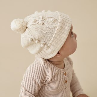 Wilson and Frenchy Knitted Hat w/ Baubles (oatmeal)