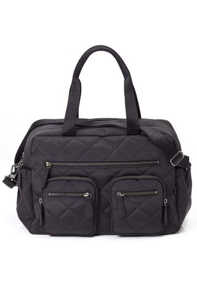Oioi Carry All Nappy Bag (black diamond quilt)