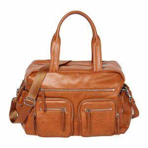 Oioi Carry All Nappy Bag Faux Leather (tan)