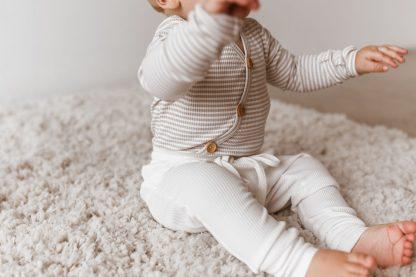 Two Darlings Baby Long Sleeve Bodysuit (milk)