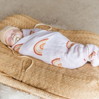 Two Darlings Baby Bamboo Swaddle (rainbow)