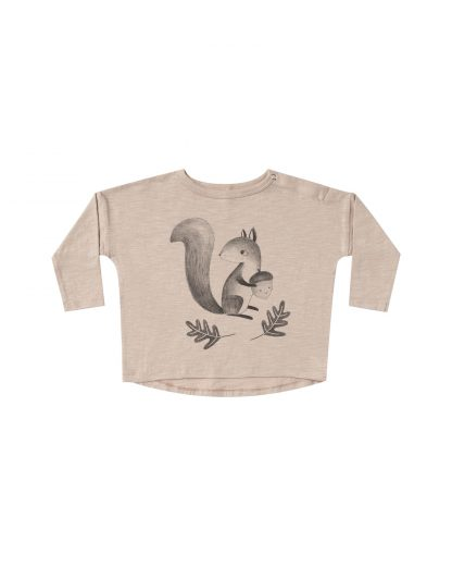 Rylee and Cru Squirrel L/S tee (oat)