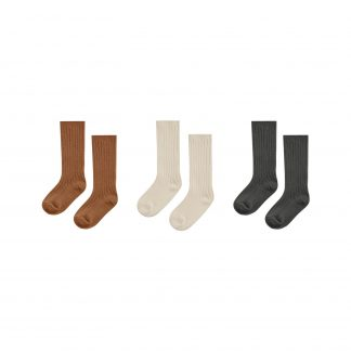 Rylee and Cru Knee High Socks 3pck (cinnamon, natural, black)