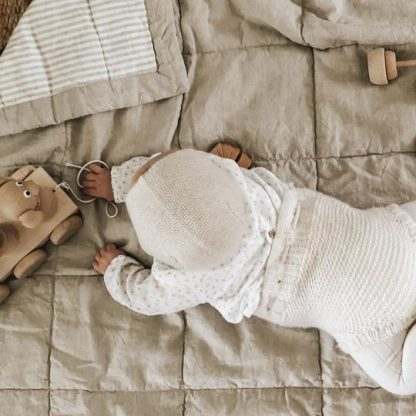 7 Pm Linen Quilted Blanket/Playmat