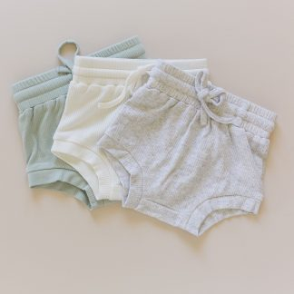 Two Darlings Baby Summer Shorties (cloud)**Pre- Order