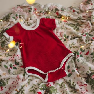 "Two Darlings ""Saint Nick"" Ribbed Bodysuit**Pre Order"