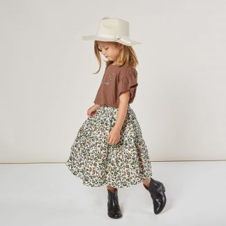 Rylee and Cru Tieried Midi Skirt (enchanted garden)