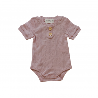 "Two Darlings Baby ""Basics"" Bodysuit NEW STYLE (rose)**Pre Order"