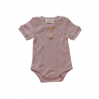 """Two Darlings Baby """"Basics"""" Bodysuit NEW STYLE (rose)"""