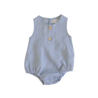 Two Darlings Linen Bubble Romper (ocean)
