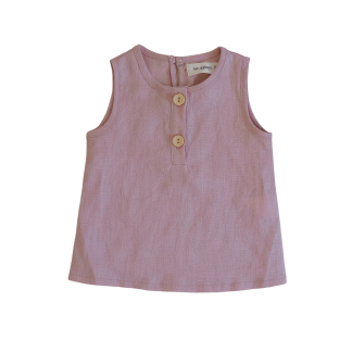 Two Darlings Linen Tank (peony)