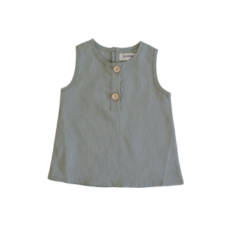 Two Darlings Linen Tank (sage)