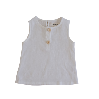 Two Darlings Linen Tank (coconut)