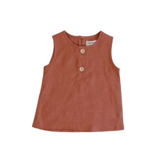 Two Darlings Linen Tank (clay)