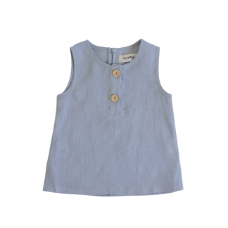 Two Darlings Linen Tank (ocean)