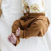 Two Darlings Baby Bamboo Harem Pant (bronze)