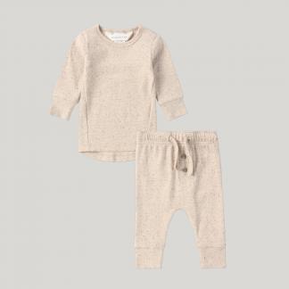 Susukoshi Organic PJ L/S Pant Set (cotton speckle)
