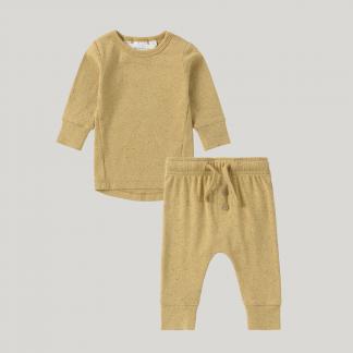 Susukoshi Organic PJ L/S Pant Set (ginger speckle)